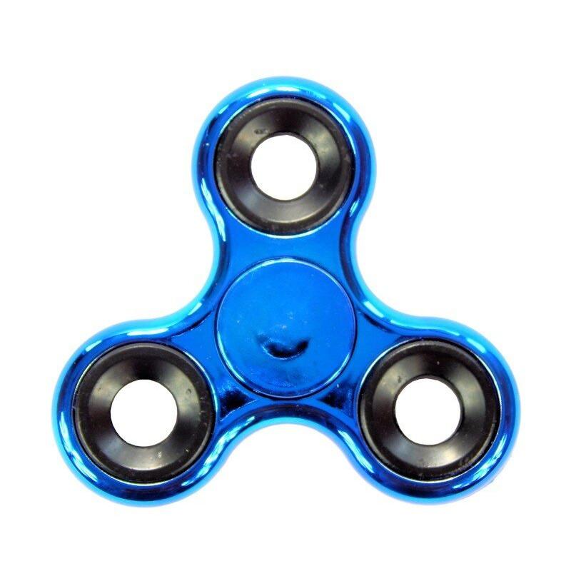 Hand Fidget Spinner Metal Blue