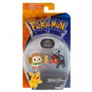 Figurki Pokemon Rowlet vs Litten TOMY