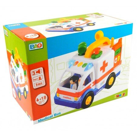 Smoby Duży muzyczny Ambulans Karetka BAO światło i dźwięk