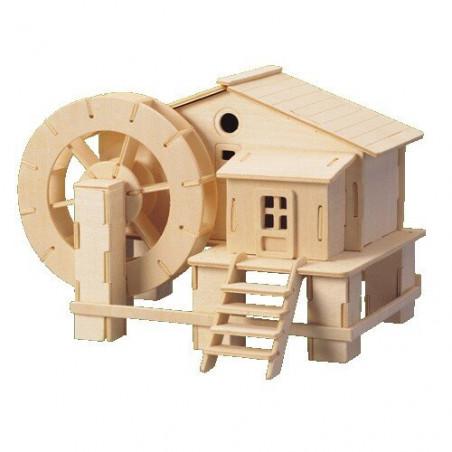 Młyn Wodny drewniane puzzle 3D przestrzenne