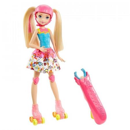 Lalka Barbie na Świecących Wrotkach w Świecie Gier MATTEL