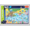 Puzzle Trefl Smerfy Wodna zabawa Peyo 160 elementów