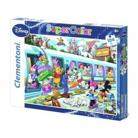 Puzzle Clementoni Bajkowy Pociąg Disney 104 el.
