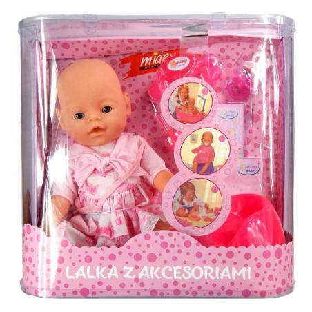 Lalka interaktywny bobas dziewczynka + akcesoria