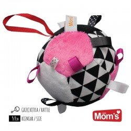 Mom's Care miękka różowa Piłeczka z metkami
