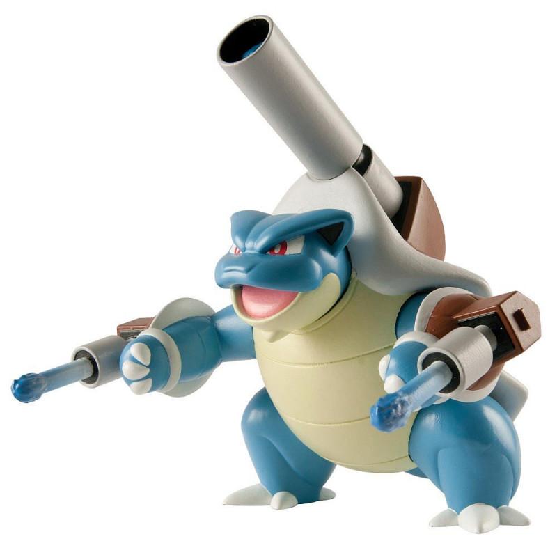 Duża Figurka Pokemon Mega Blastoise Tomy z wyrzutnią pocisków
