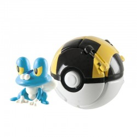 Pokemon Ultra Ball Throw 'N' Pop z figurką Froakie TOMY
