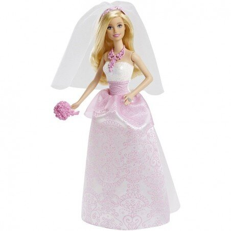 Lalka Barbie Panna Młoda z welonem MATTEL
