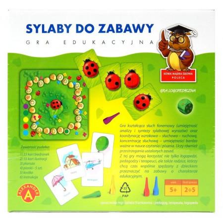 Edukacyjna Gra Logopedyczna Sylaby Do Zabawy Alexander