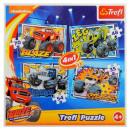 Puzzle 4w1 Blaze i jego Przyjaciele Trefl