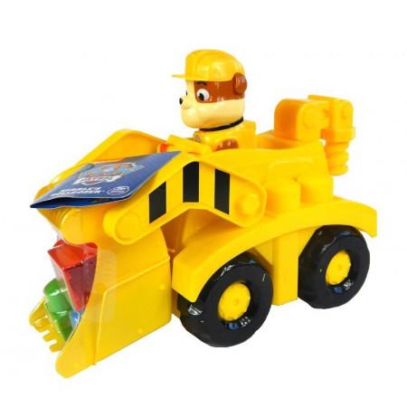 Psi Patrol Pojazd Buldożer z figurką Rubble i klockami