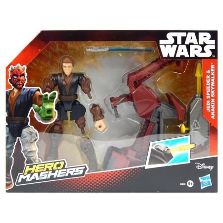STAR WARS Mashers Anakin Skywalker i Ścigacz Jedi