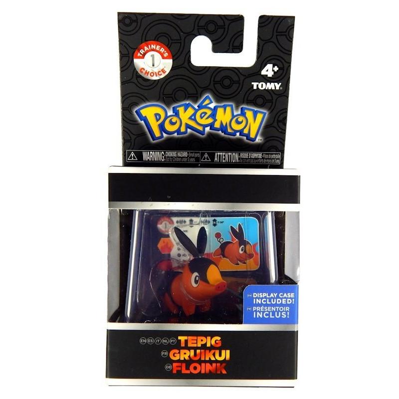 Pokemon Tepig Figurka w gablotce Tomy