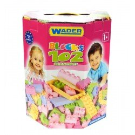 Wader kolorowe Klocki dla Dziewczynki 102 el.