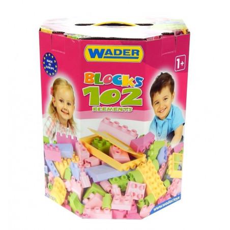 Klocki dla Dziewczynki Wader w pudełku 102 el.