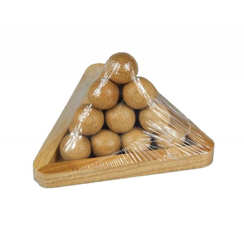 Łamigłówka Piramida z drewnianych kulek