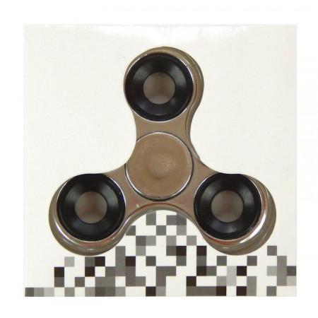 Hand Fidget Spinner Metal Silver