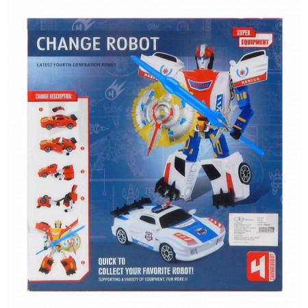 Ognisty Wojownik Transformujący się Robot  Samochód