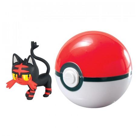 Figurka Pokemon Litten i Poke Ball TOMY