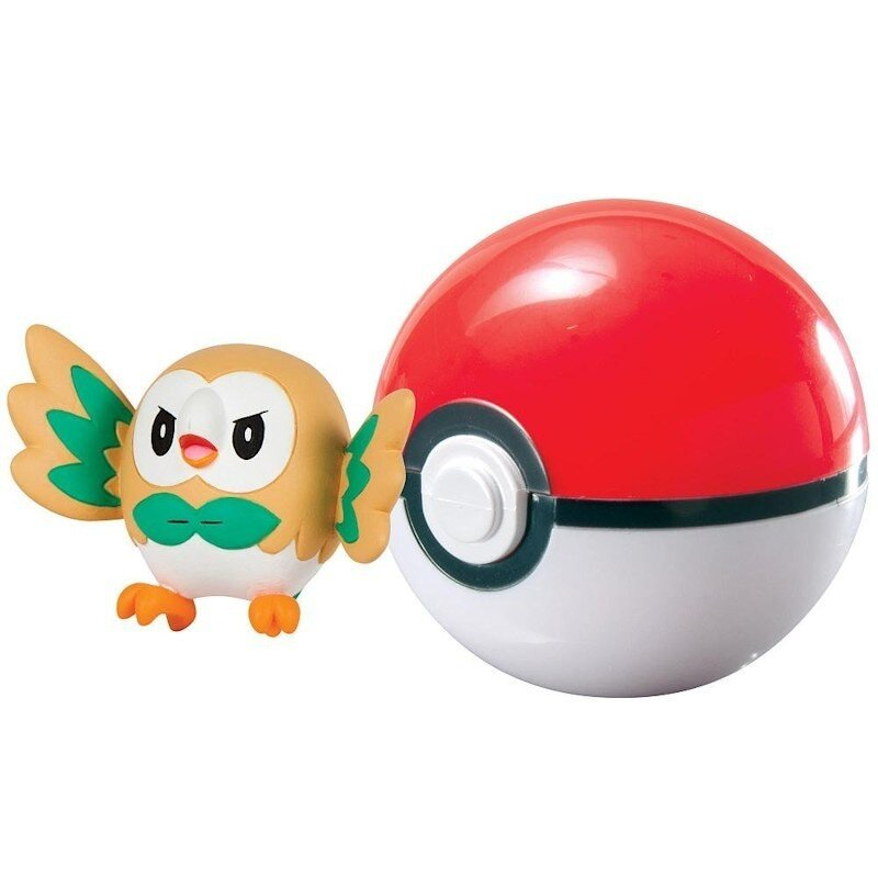 Figurka Pokemon Rowlet i Poke Ball TOMY