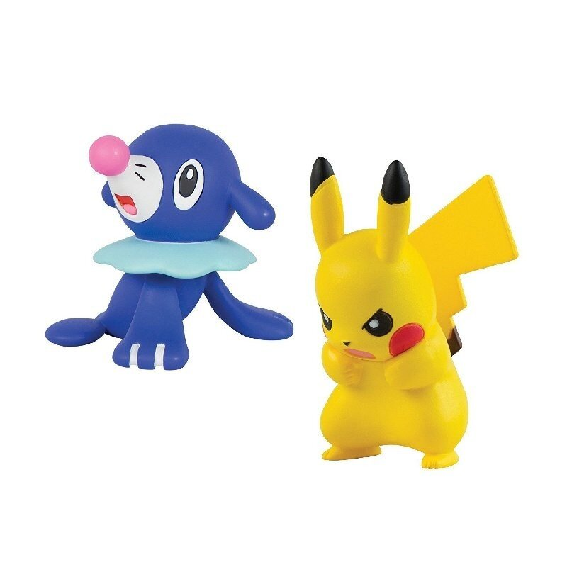 Figurki Pokemon Popplio vs Pikachu TOMY
