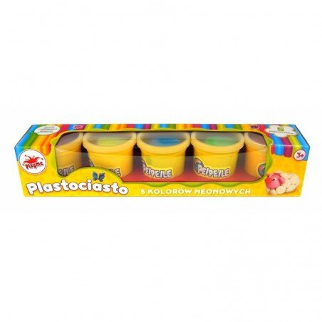 Playme Ciastolina Plastociasto 5 kolorów Neonowych