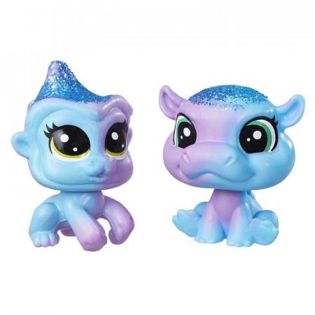 Małpka i Hipopotam Tęczowe Zwierzaki Littlest Pet Shop Hasbro