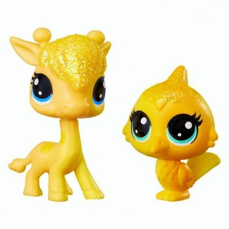 Żyrafa i Ptaszek Tęczowe Zwierzaki Littlest Pet Shop Hasbro