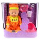Lalka interaktywny bobas Warm Baby z akcesoriami
