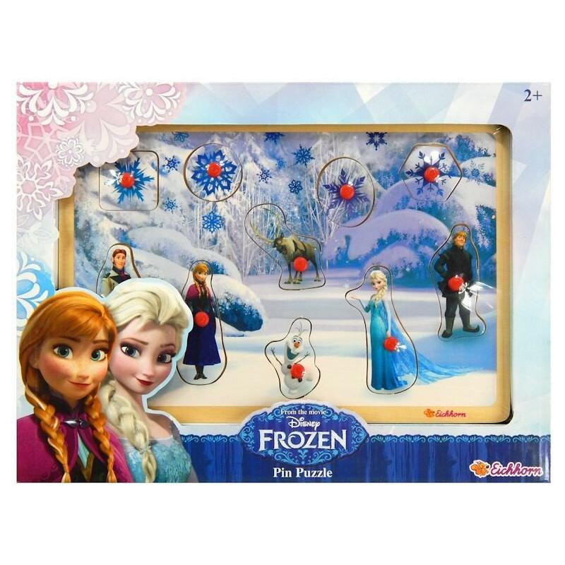 Drewniana Układanka Kraina Lodu Frozen 10 el. Eichhorn
