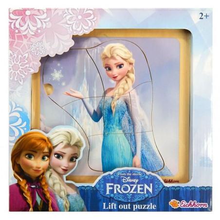 Drewniana Układanka Zegar Frozen Playme