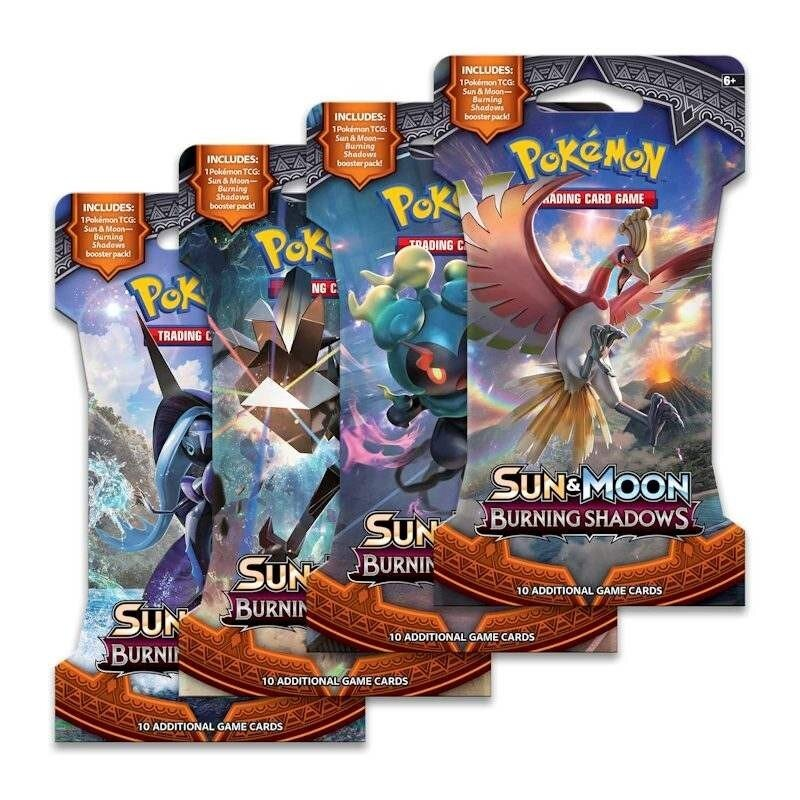 Pokemon Sun & Moon 3: Burning Shadows Sleeved Booster