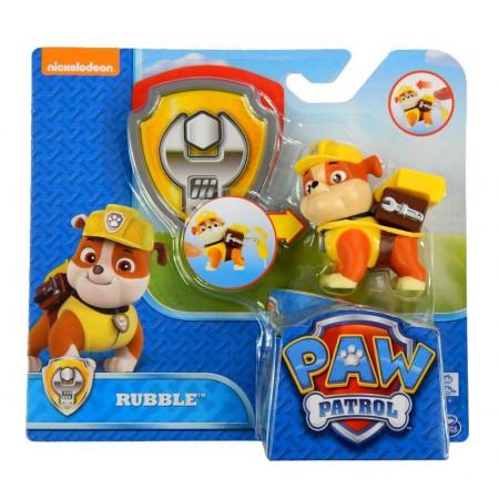 Psi Patrol Figurka z Odznaką RUBBLE Spin Master