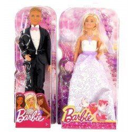 Lalka Barbie + Ken Para Młoda Ślub MATTEL