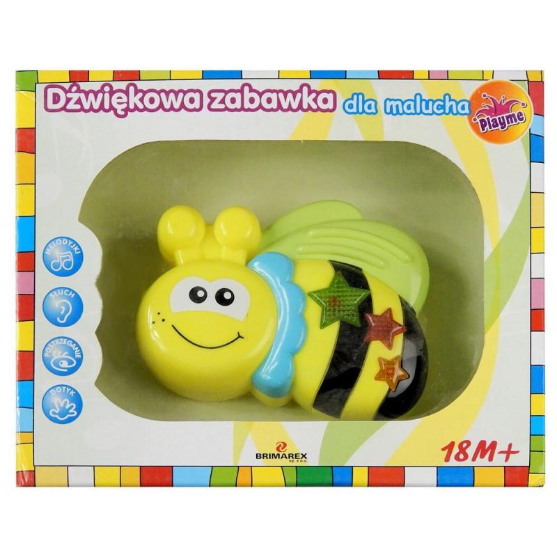 Playme Dźwiękowa PSZCZÓŁKA zabawka dla malucha