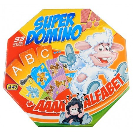 Gra 2w1 Super Domino + Alfabet Nauka i Zabawa