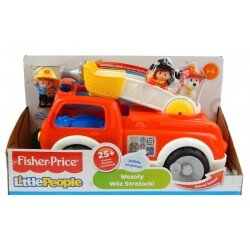 Wesoły Wóz Strażacki Little People Fisher Price