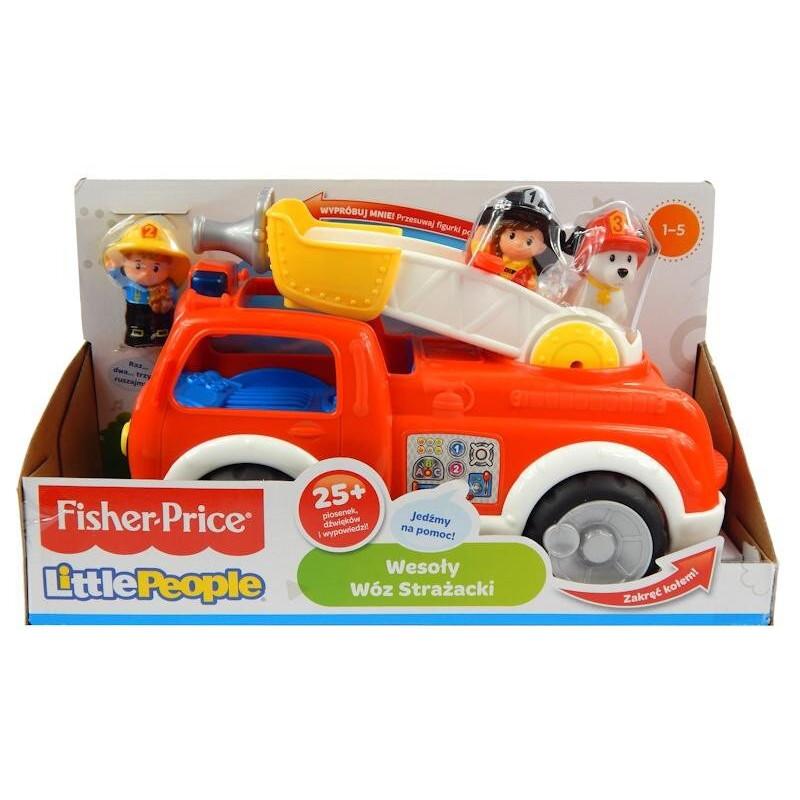 Wesoły Wóz Strażacki Little People Fisher Price