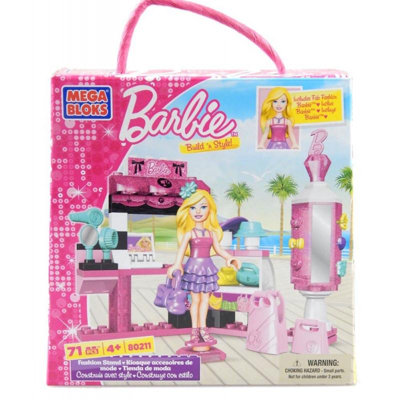 Klocki Barbie Mega Bloks Stoisko z Modą 71 elementów