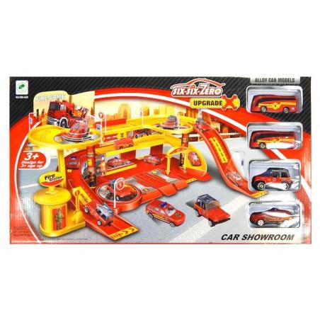 Garaż Baza Straży Pożarnej z metalowymi autkami