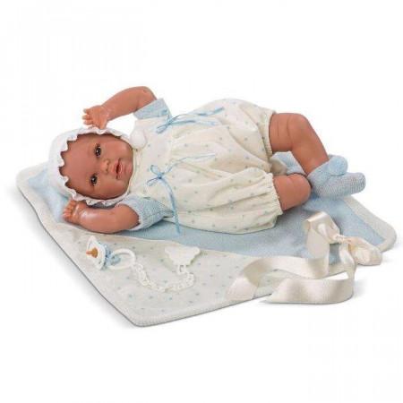 Lalka Llorens Hiszpański niemowlak bobasek płaczący chłopiec