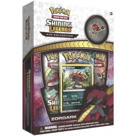 Pokemon Shining Legends Pin Collection Box ZOROARK