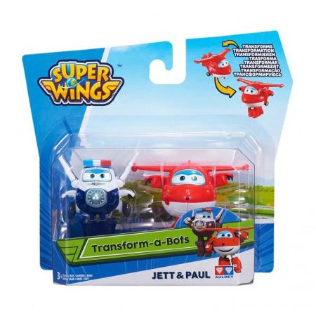 Super Wings Transformujące Samoloty Dżetek (Jett) i Trafik (Paul)