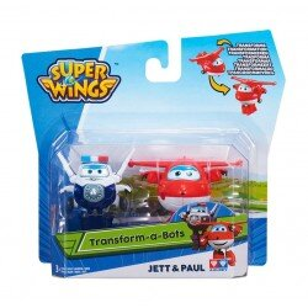 Super Wings Transformujące Samoloty Jett i Paul