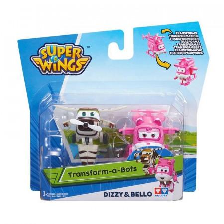 Super Wings Transformujące Samoloty Frunia (Dizzy) i Śmigu (Bello)