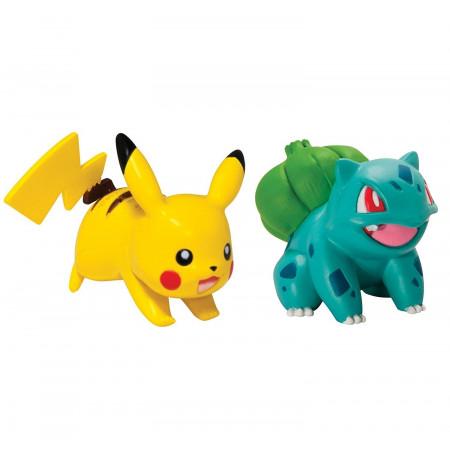 Pokemon Waleczne Figurki Bulbasaur i Pikachu TOMY