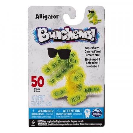 Bunchems Aligator Zestaw Kumple Kolorowe Rzepy 50 el.