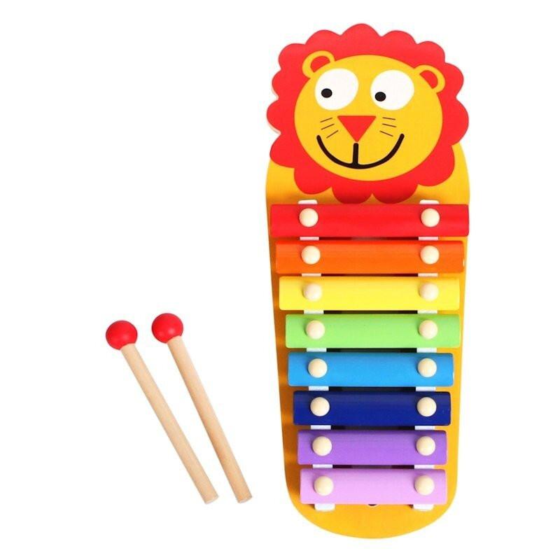 Kolorowe, drewniane cymbałki z lwem Smily Play
