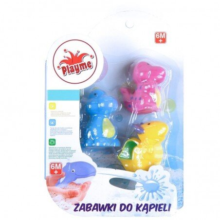 Dinozaury Zabawki Do Kąpieli dla maluchów 3 szt.