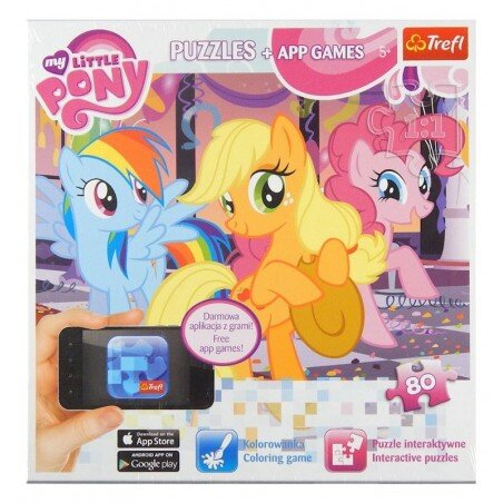 Puzzle Trefl My Little Pony Interaktywna Kolorowanka 80 el.